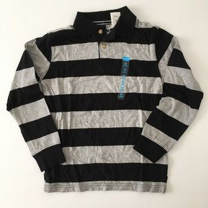 The Children's Place boys long sleeve polo, size M